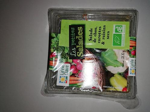 Salade de chou, carottes et raisins secs