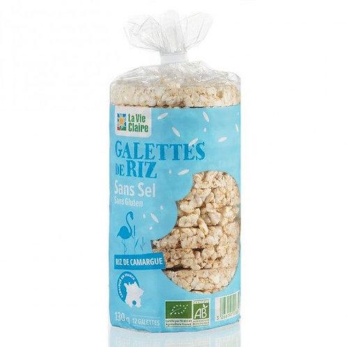 Galette de riz complet sans sel 130g la vie claire