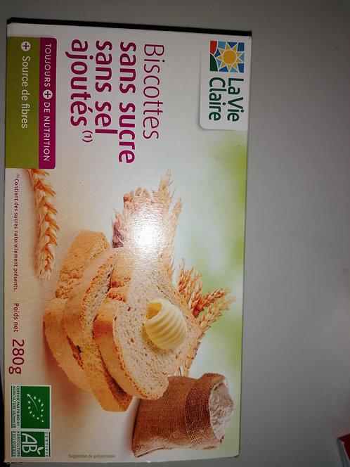 Biscottes sans sucre et sans sel