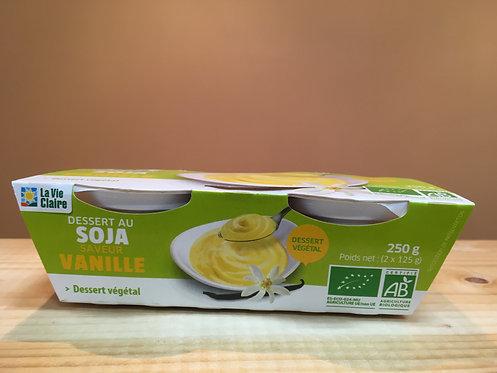 Dessert la vie claire au soja et à la vanille