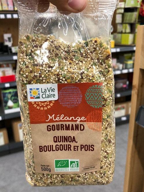 Mélange gourmand quinoa, boulgour et pois la vie claire