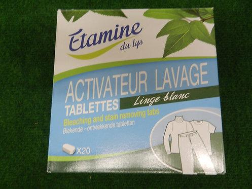 Tablette linge blanc détachante X 20 étamines du lys