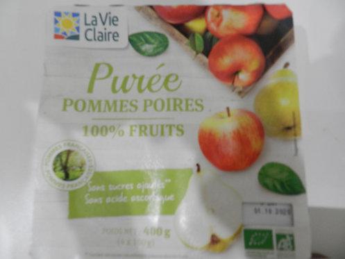 Purée pomme poire X 4 la vie claire