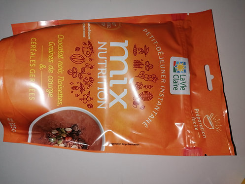 Mix nutrition chocolat, noisettes et graines de courge