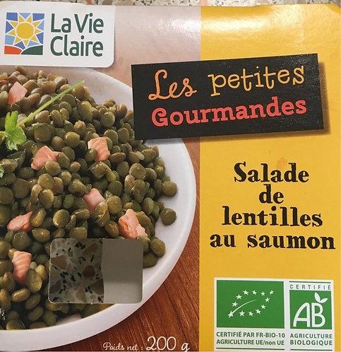Salade de lentilles au saumon bio