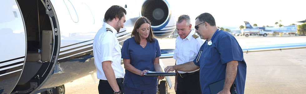 Pilot and Medical Staff