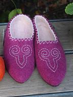 pantoufles en laine feutrée