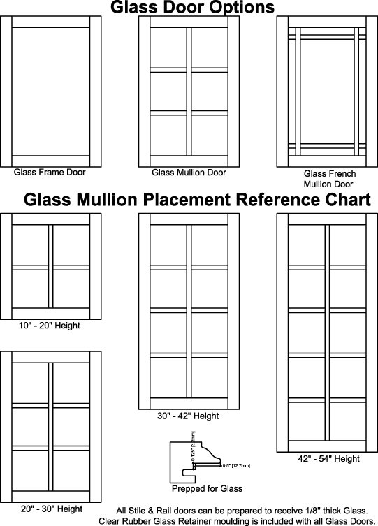 Glass Door Options