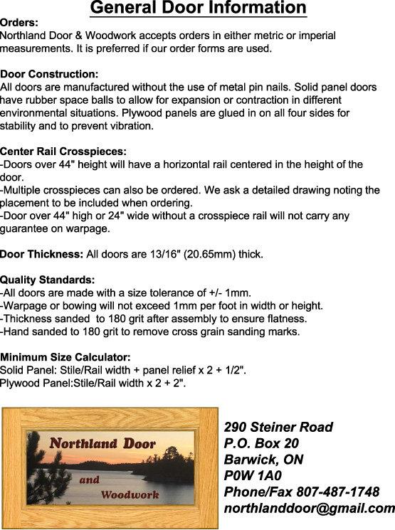 General Door Information