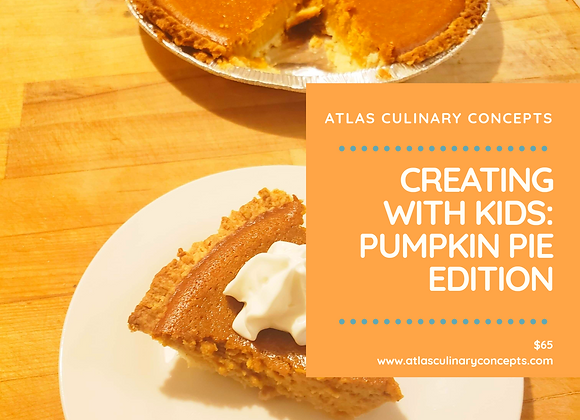 Creating with Kids: Pumpkin Pie Edition