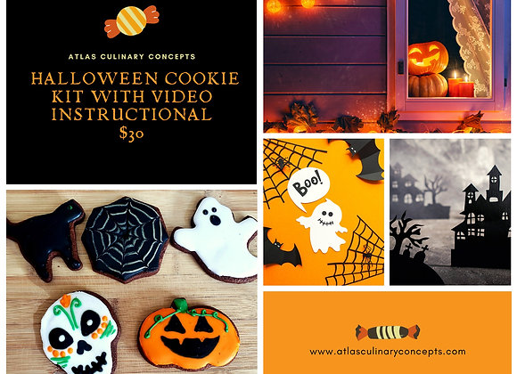 Halloween Cookie Kit with Instructional Video