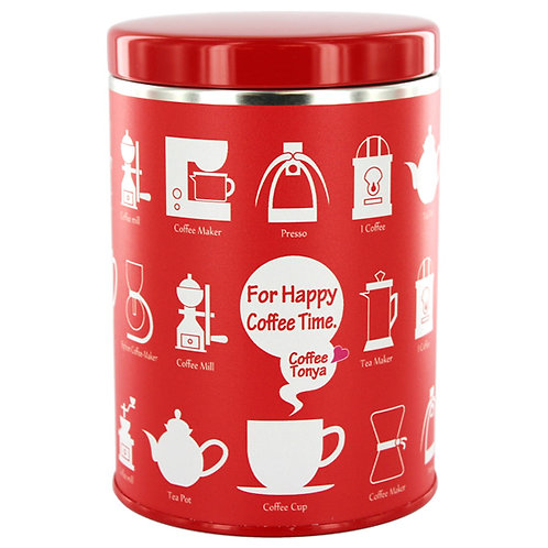 TONYA Original Design Canister [For Happy Coffee Time] Red