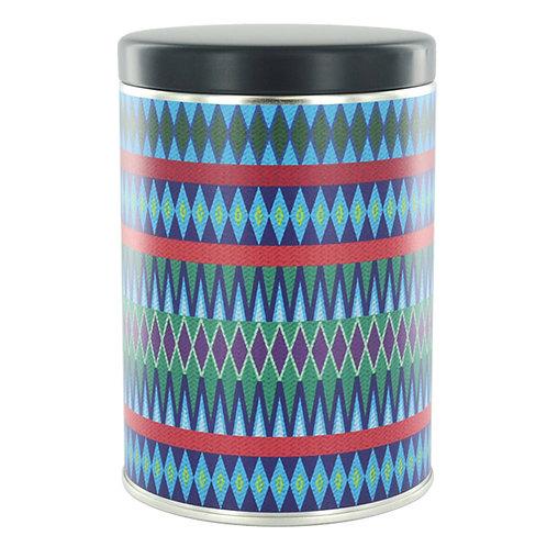 TONYA Original Design Canister [Guatemala fabrics blue] Navy Blue