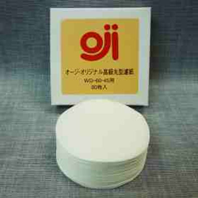 Oji Round paper filters (Contains 80 filters)(WD-60・45)