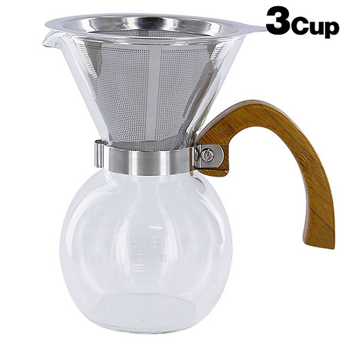 SinoSky Bamboo Coffee Server 3-cup 400 ml YCD3