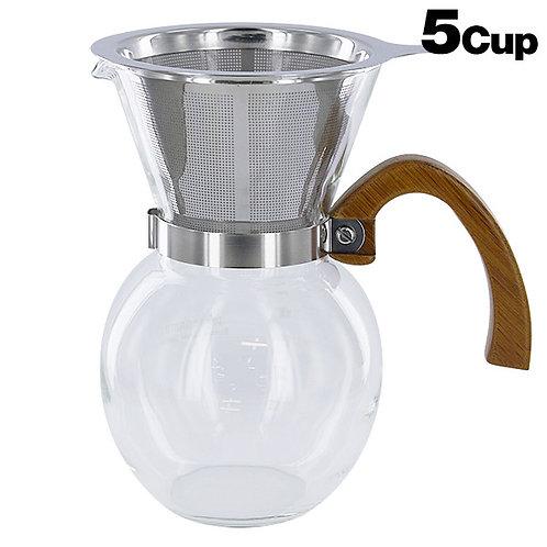 SinoSky Bamboo Coffee Server 5-cup 650 ml YCD5