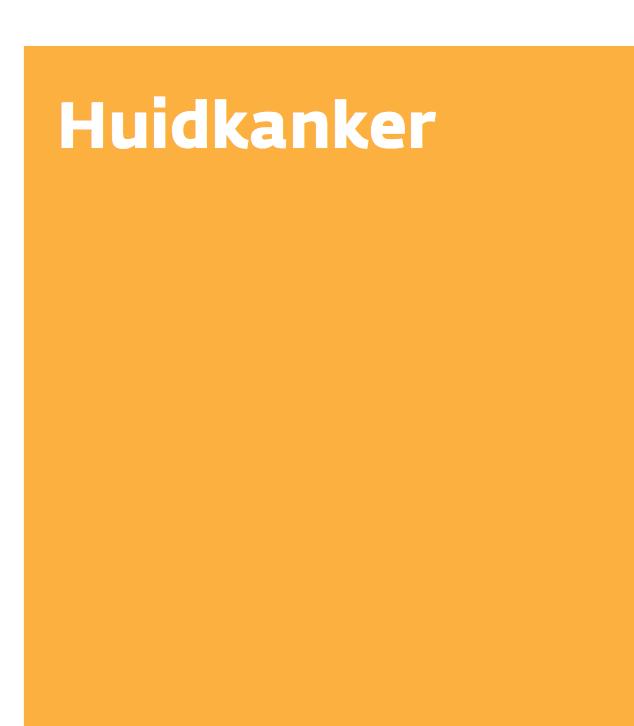 KWF BROCHURE HUIDKANKER - 2018