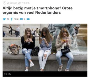 Interview over Smartphone ergernis
