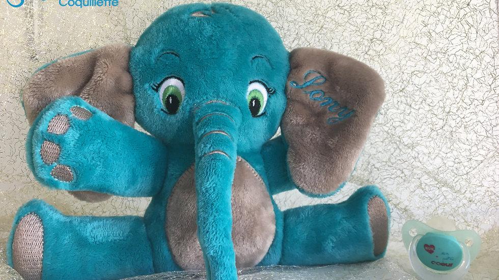 Doudou éléphant personnalisable