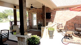 Stone Outdoor Kitchen by Earth Art inc. Rockwall, Tx 75032