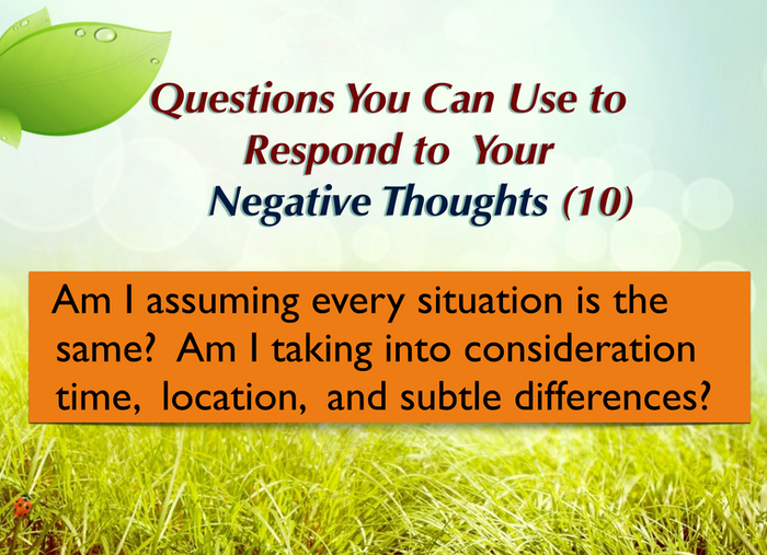 Question you can ask yourself (10)