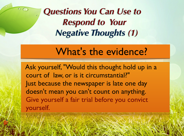 Questions you can ask yourself (1)