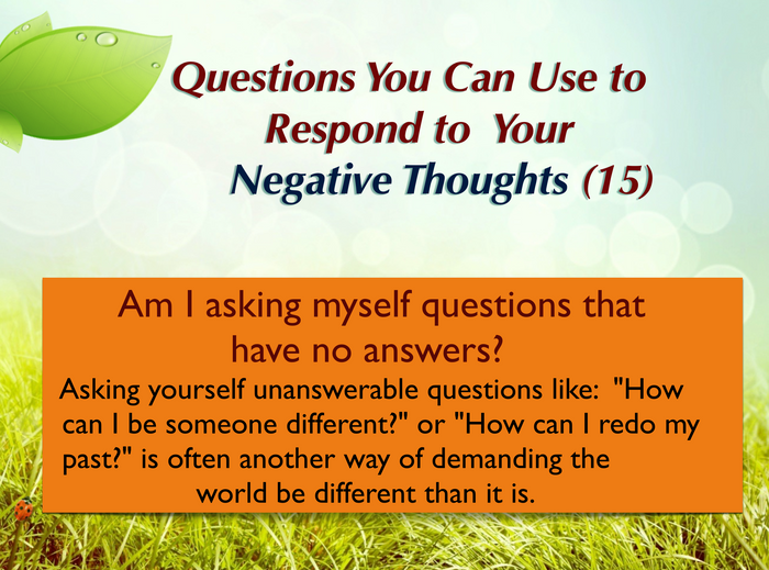 Question you can ask yourself (15)