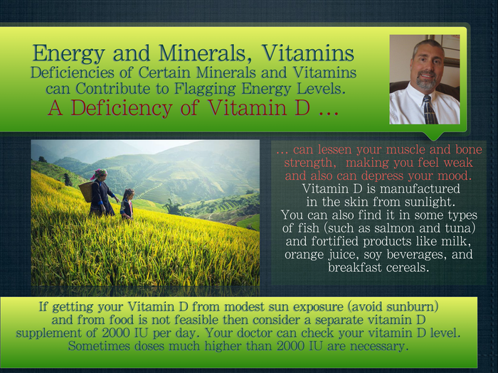 Energy and Minerals/Vitamins