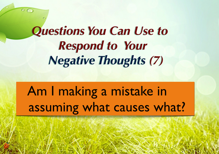 Questions you can ask yourself (7)