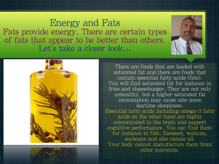 Energy and Fats
