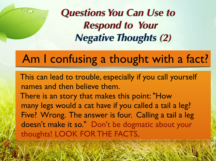 Questions you can ask yourself (2)