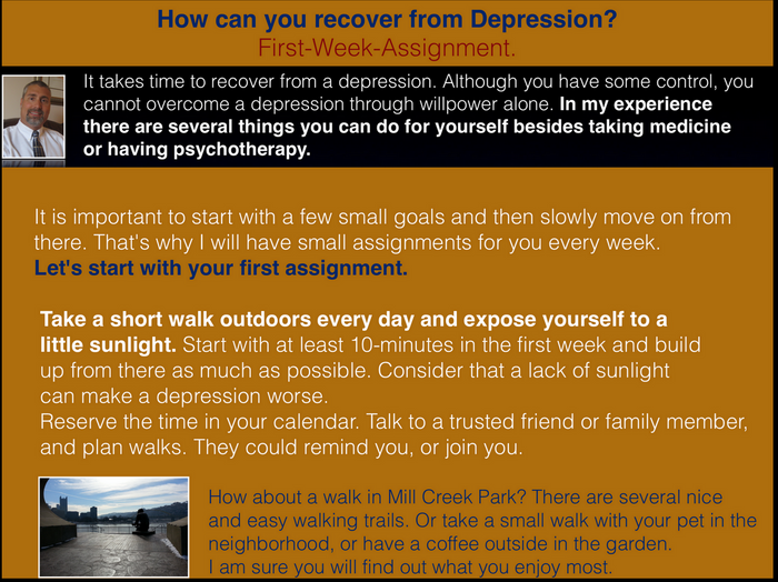 Recovery from Depression (1) - Excercise
