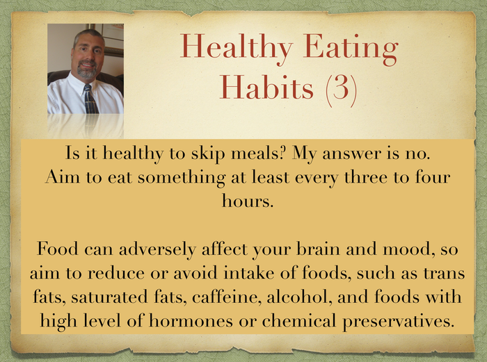 Recovery from Depression (30) - Eating Habits
