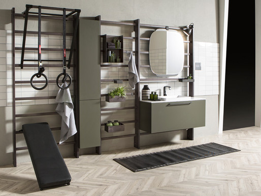 Azure Magazine Spotlights the Gym Space series by Scavolini