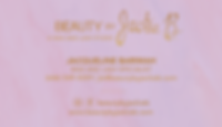 Beauty by Jackie B Business Card Design