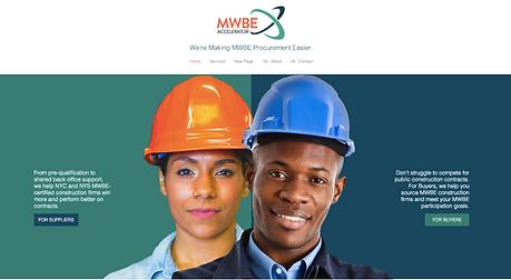 MWBE Accelerator Website Design
