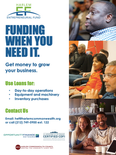 Harlem Entrepreneurial Fund Flyer