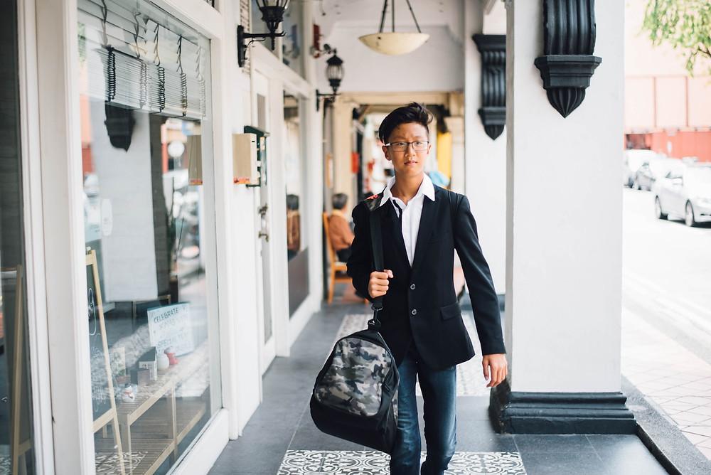 Confident Asian guest