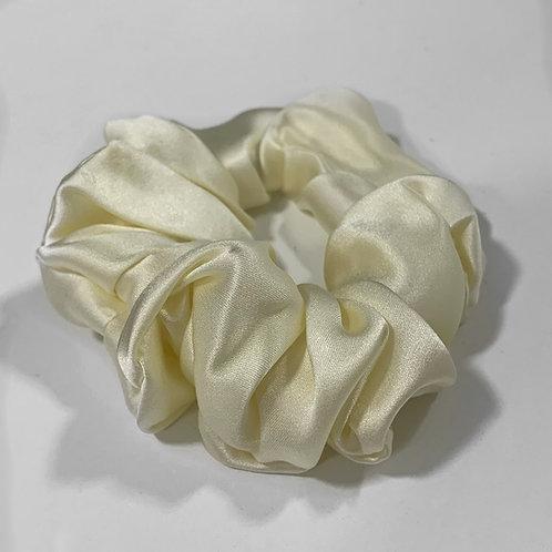 100% Mulberry Silk Original Scrunchie - Ivory