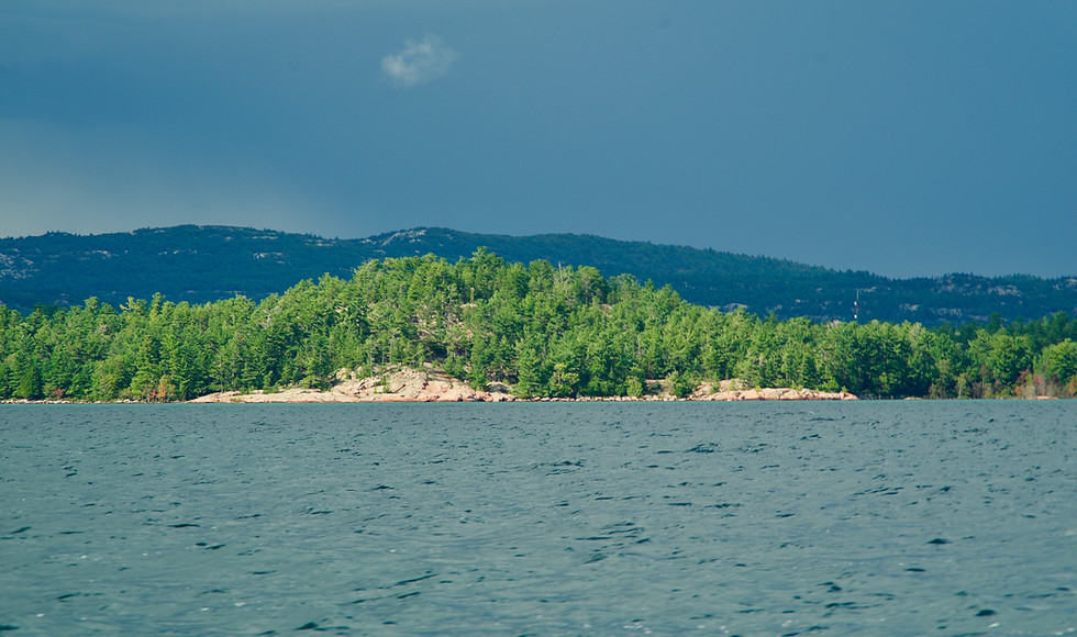 Chikanishing landscape with the La Cloche Mountains in the background