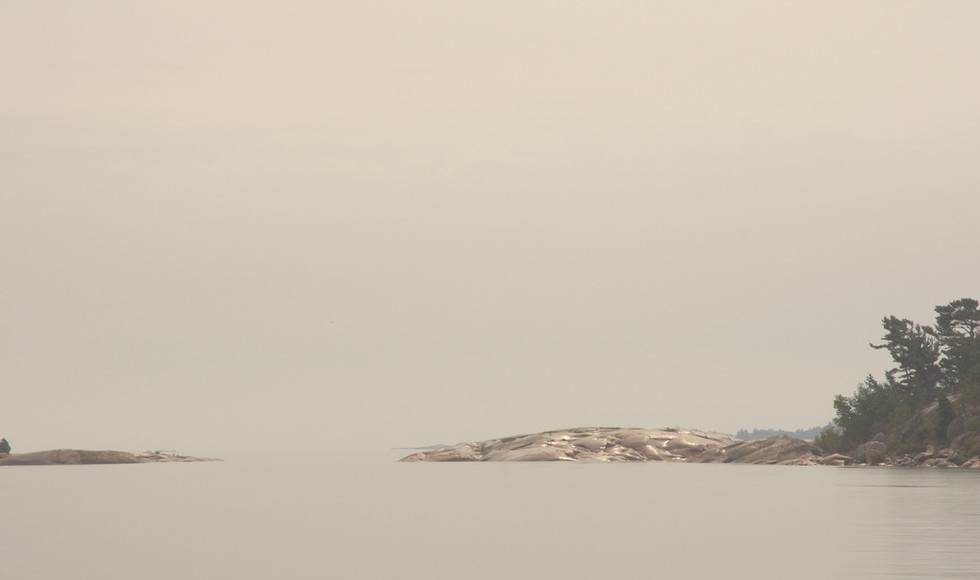 Shoreline around the Fox Islands