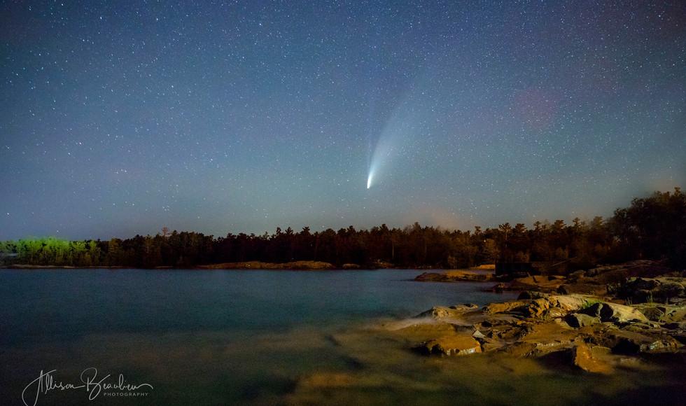 Comet falling