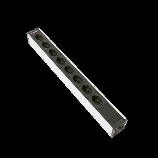 "Power strip 19"" 1U 8 × T23 black plug T23"