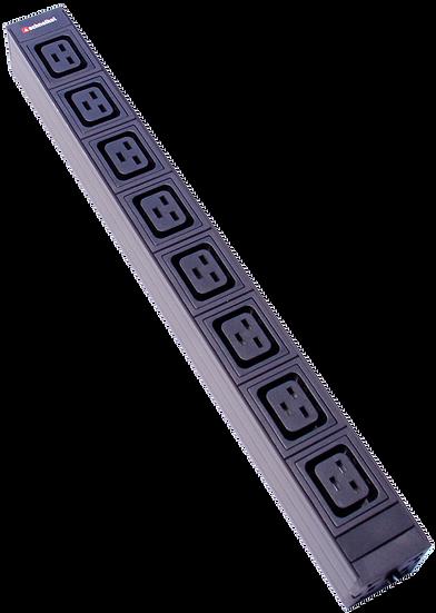 "Power strip 19"" 1U 8xC19 black Plug CEE16 blue"