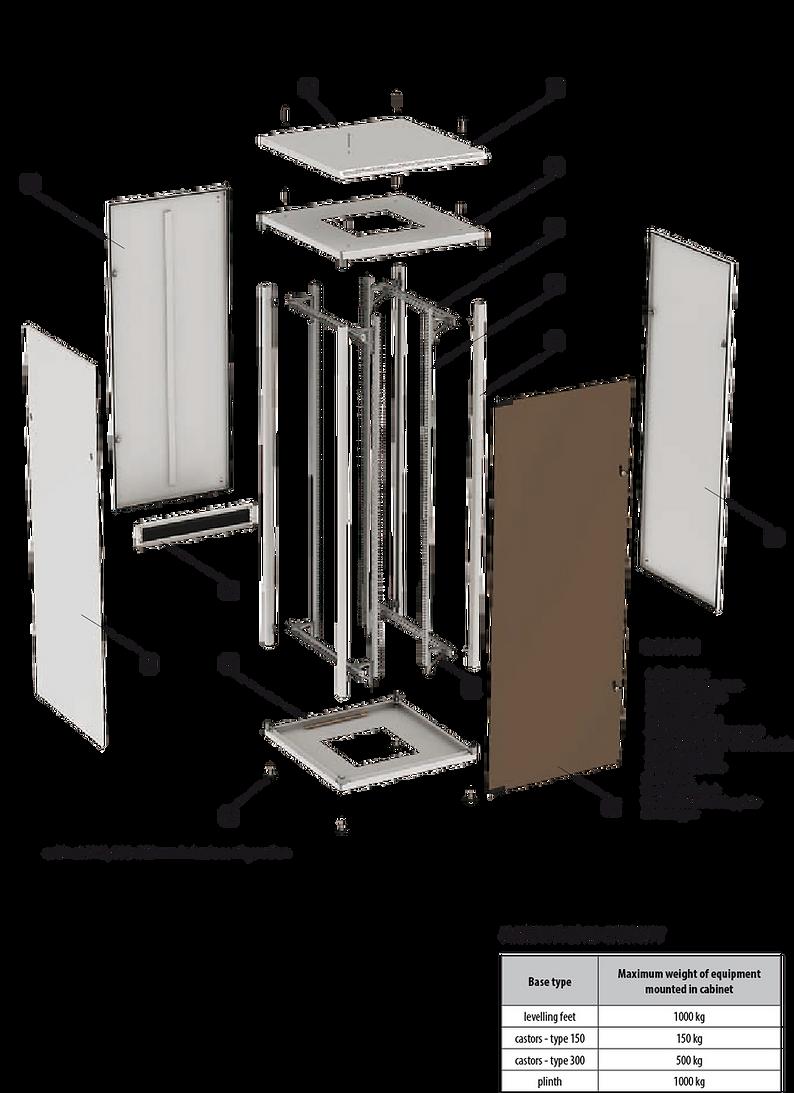 """Sehr tragfähige, robuste Stahlkonstruktion. 19"""" - Server- und Netzwerkschrank für jedes Budget."""