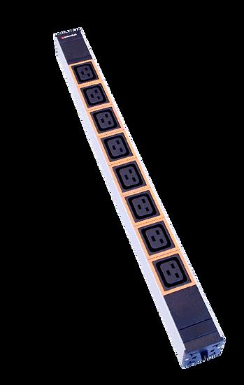 """Power strip 19"""" 1U 8xC13 orange plug C20"""