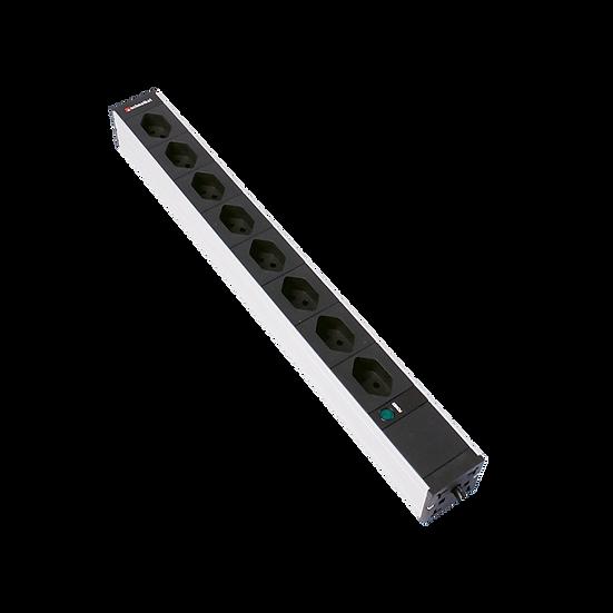 "Power strip 19""1U 8×T23 black plug T23 with power indicator"