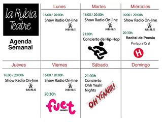 Programa Semana LaRubia Teatre; 25 Noviembre/1Diciembre