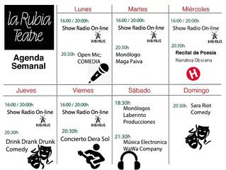Programa Semanal (Lunes 3 / Domingo 8 de Febrero)