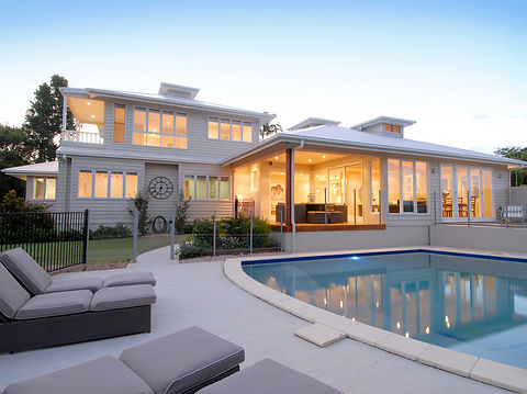 Hamptons Style Home Exterior